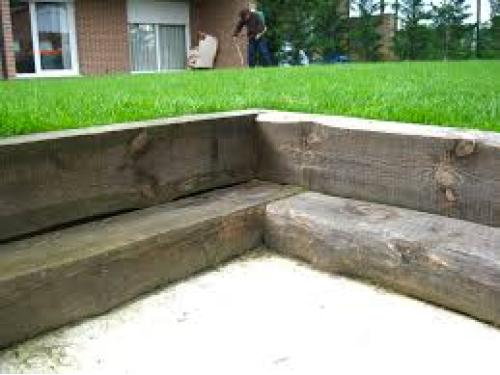 Durmientes de roble precio de durmientes for Vigas de madera para jardin